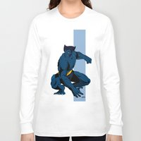 beast Long Sleeve T-shirts featuring Beast by Andrew Formosa