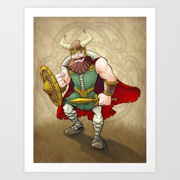 Viking Warrior Art Print
