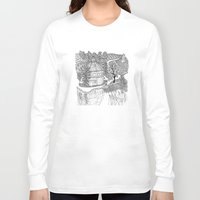 vermont Long Sleeve T-shirts featuring Vermont Round Barn, Waitsfield Vermont by Vermont Greetings