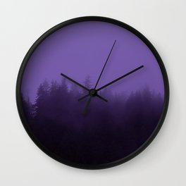 Licorice Forest with Ultra_Violet Fog, Alaska Wall Clock