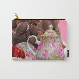 PINK CHOCOLATE & STRAWBERRY TEA TIME Carry-All Pouch
