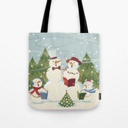 Christmas Song / Snowmen Tote Bag