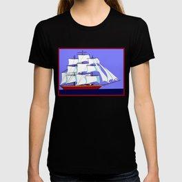 A Clipper Ship Full Sail in Still Waters T-shirt