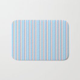 Blue Stripe Pattern Bath Mat