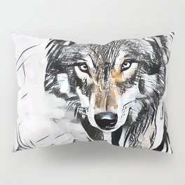 Wolf Hunting Pillow Sham