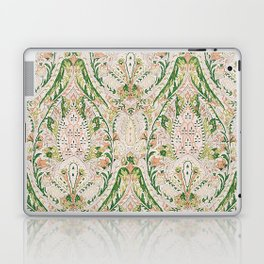 Green Pink Leaf Flower Paisley Laptop & iPad Skin