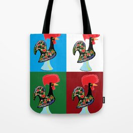 Portuguese Rooster Cluster Tote Bag