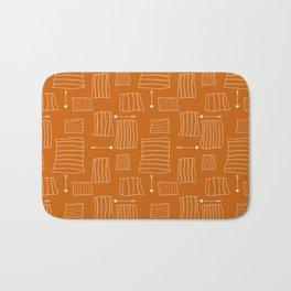 Tribal Arrows and Squares, Primitive Pattern Bath Mat
