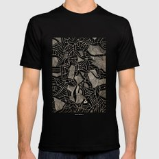 - cosmophobic cow - Black MEDIUM Mens Fitted Tee