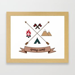 Camping Spring Camp adventure design Framed Art Print