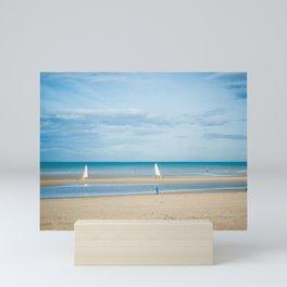 Sand yacht in autumn Mini Art Print