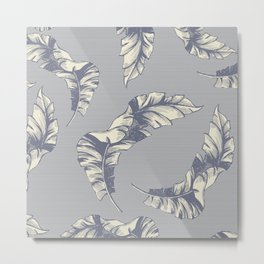 tropical gentle falling leaves Metal Print
