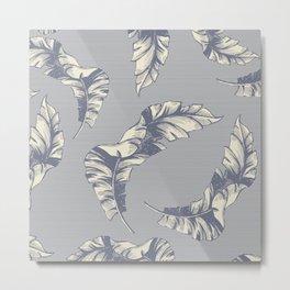 tropical gentle falling leaves Metal Print