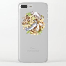 MEOWcaroni Clear iPhone Case