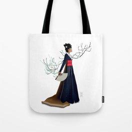 Modern Woman in Kimono Tote Bag