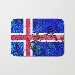 circuit board Flag (iceland) Bath Mat