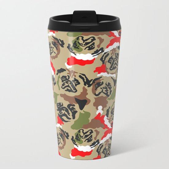 Pugly Camo X-Mas Metal Travel Mug
