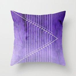 Disrupt - Purple Throw Pillow