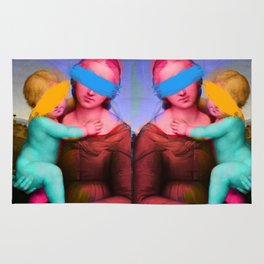 Raphael Classical Painting Remix Pop Art Rug