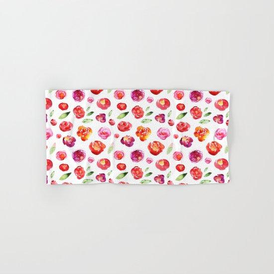 Watercolor flowers #3 Hand & Bath Towel