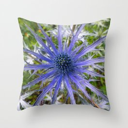 A thistle with style Throw Pillow