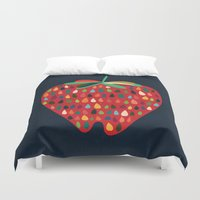 strawberry Duvet Covers featuring Strawberry by Picomodi