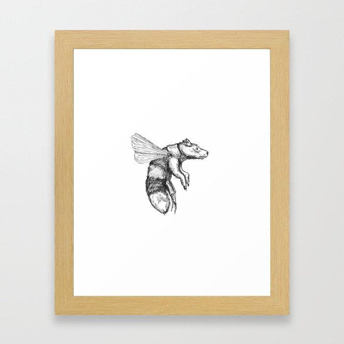 Bumblebear Framed Art Print