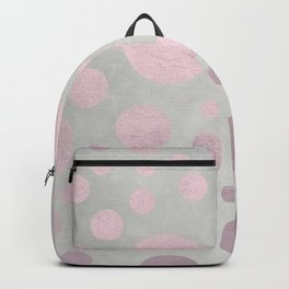 Pale Pink Golden Dots Pattern on Old Metal Texture Backpack