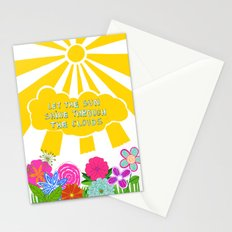Let the sun shine through the clouds Stationery Cards