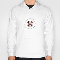 resident evil Hoodies featuring RESIDENT EVIL - UMBRELLA by Raisya