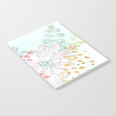 Paint splatter flower Notebook