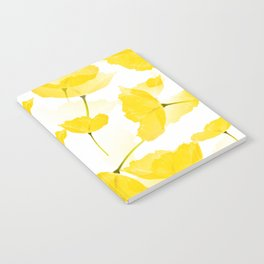Light Yellow Poppies Spring Summer Mood #decor #society6 #buyart Notebook