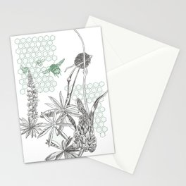 Lupins and leeks Stationery Cards
