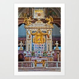 Altar of the St. Mary of the Altar of Heaven Basilica Art Print