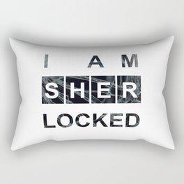 SHERLOCK I am Sherlocked Print Rectangular Pillow