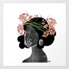 Wildflower Crown III Art Print