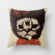 Cat (Pack-a-cat) Throw Pillow