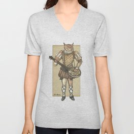 Banjo Cat Unisex V-Neck