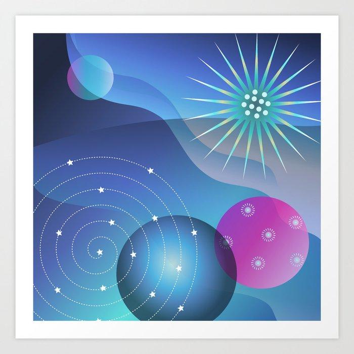 Planetary Party Art Print