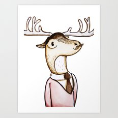 Professor Caribou Art Print