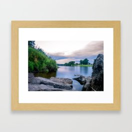 Long Exposure Photo of The River Tay in Perth Scotland Framed Art Print