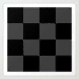 Black 2 Tone Pattern Art Print