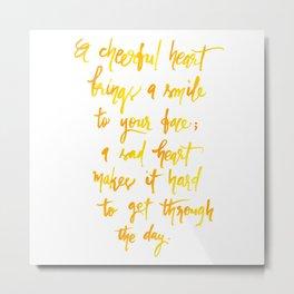 Cheerful Heart Metal Print