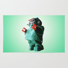 Doctorbot Green Rug