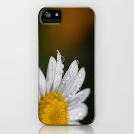 Raindrops and Daisy iPhone Case