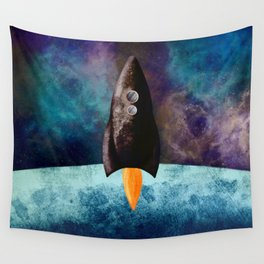 Little Brown Rocket Wall Tapestry