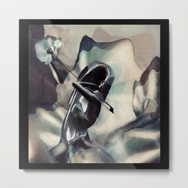 A WAVES WITH CELLO Metal Print