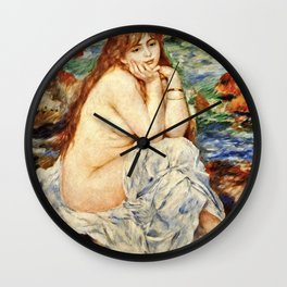 Auguste Renoir - Bather Seated On A Sand Bank Wall Clock