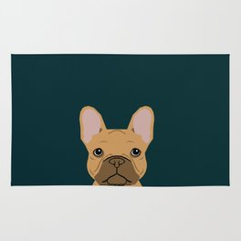 Willow - French Bulldog phone case art design for dog lovers and dog people Rug