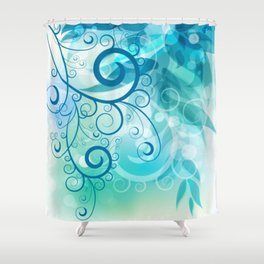 Remolino floral Shower Curtain